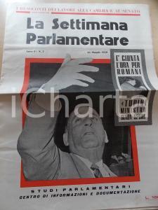 1959 LA SETTIMANA PARLAMENTARE Ben GURION il Churchill ebreo *Anno I n° 7
