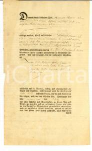1794 BREMA (D) Contratto manoscritto pro Heinrich ELMERS 20x33 cm 4 pp.