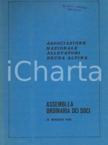 1978 Associazione Nazionale Allevatori BRUNA ALPINA - Assemblea dei soci 38 pp.