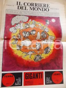 1970 CORRIERE DEL MONDO Uomo di NEANDERTHAL *Giornale SATIRICO Anno I n°1