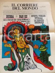 1971 CORRIERE DEL MONDO Budda non si farà più vivo *Giornale SATIRICO
