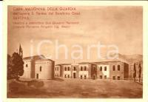 1940 ca PANTASINA (IM) Casa MADONNA DELLA GUARDIA *Cartolina ILLUSTRATA FG NV
