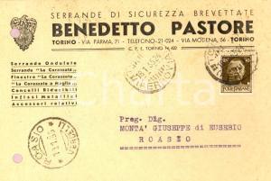 1935 TORINO Benedetto PASTORE Serrande di sicurezza *Cartolina intestata