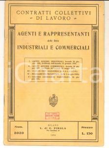 1954 MILANO Agenti e rappresentanti - Contratti collettivi *Ed. PIROLA