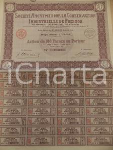 1930 ca PARIS Société Anonyme Conservation Industrielle du Poisson *Action
