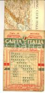 1913 TOURING CLUB ITALIANO Carta d'Italia - NUORO Foglio n° 40 40x50 cm