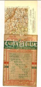 1912 TOURING CLUB ITALIANO Carta d'Italia - BARI Foglio n° 38 40x50 cm