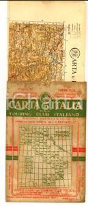 1906 TOURING CLUB ITALIANO Carta d'Italia - GENOVA Foglio n° 16 40x50 cm