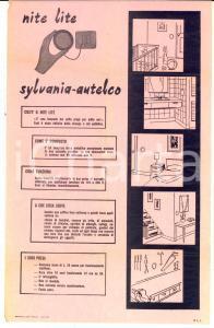 1950 ca MILANO Ditta SYLVANIA-AUTELCO - NITE LITE *Volantino pubblicitario