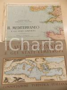 1945 ca CONSOCIAZIONE TURISTICA ITALIANA Mediterraneo e Stati limitrofi *Mappa