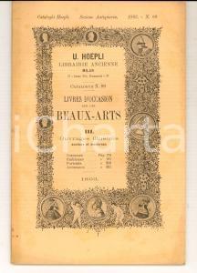 1893 MILANO Catalogo Libreria Antiquaria HOEPLI - Libri ILLUSTRATI Costumi n° 89