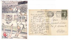 1938 NAPOLI LITTORIALI FEMMINILI Pallanuoto *Cartolina GRAVEMENTE DANNEGGIATA