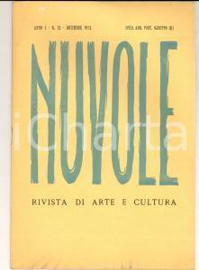 1951 NUVOLE Arte sociale di Tommaso FIORE - Morte G. A. BORGESE *Rivista