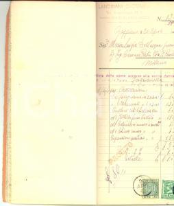1941 GAGGIANO Ditta Giovanni LANDRIANI Spese per lavori alle rogge *Libretto
