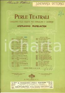 1914 Giuseppe VERDI Aida - Possente Fhtà *Spartito mandolino RICORDI