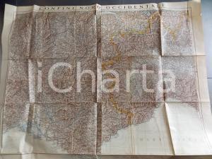 1936 Istituto Geografico Militare CARTA D'ITALIA - Confini occidentali *Mappa