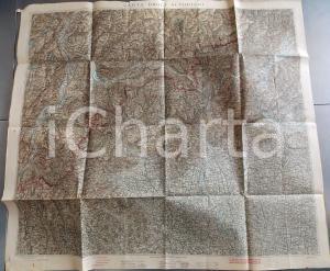 1916 Istituto Geografico Militare CARTA D'ITALIA - Altopiani *Mappa 100x90 cm