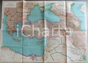 1942 CONSOCIAZIONE TURISTICA ITALIANA Carta del Levante - Europa e Medio Oriente