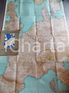 1939 CONSOCIAZIONE TURISTICA ITALIANA Mappa dal MARE DEL NORD al MEDITERRANEO