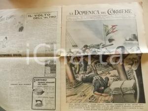 1943 DOMENICA DEL CORRIERE L'eroico marinaio Cesare ROSASCO *Con sovracoperta