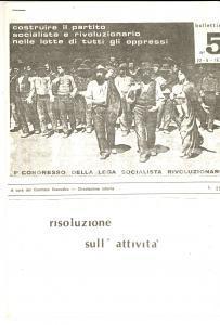 1977 LEGA SOCIALISTA RIVOLUZIONARIA Risoluzione sull'attività *Ciclostile n°5