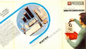 1970 ca Ditta PATERSON Guida per camera oscura - Principianti *Opuscolo