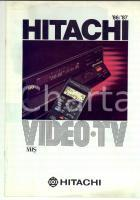 1986-87 Video-tv HITACHI *Catalogo pubblicitario ILLUSTRATO 22 pp. VINTAGE