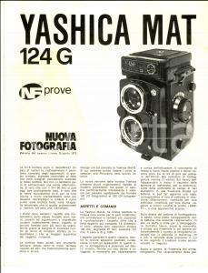 1971 YASHICA MAT Macchina fotografica *Opuscolo pubblicitario ILLUSTRATO