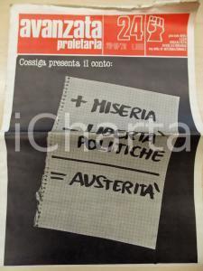 1979 AVANZATA PROLETARIA Cossiga presenta il conto *Giornale LEGA SOCIALISTA