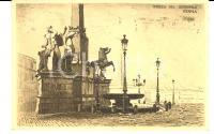 1923 ROMA Piazza del QUIRINALE *Cartolina ILLUSTRATA VINTAGE