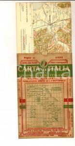1910 ca TOURING CLUB ITALIANO Carta d'Italia - SIENA Foglio n° 22 40x50 cm