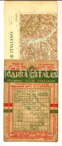 1910 ca TOURING CLUB ITALIANO Carta d'Italia - CIVITAVECCHIA Foglio n° 27 40x50