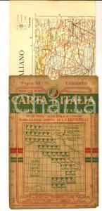 1910 ca TOURING CLUB ITALIANO Carta d'Italia - TARANTO Foglio n° 43 40x50 cm