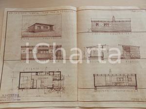 1950 ca MILANO Ditta S. LUTTERI Progetto per abitazione LAMPO per 4 persone