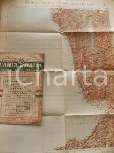 1911 TOURING CLUB ITALIANO Carta d'Italia - COSENZA Foglio n° 47 40x50 cm