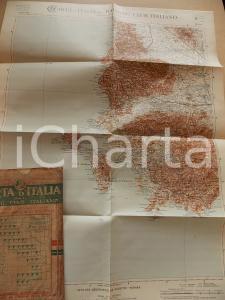 1911 TOURING CLUB ITALIANO Carta d'Italia - IGLESIAS Foglio n° 45 40x50 cm
