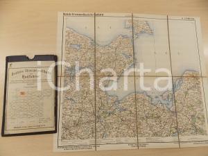 1910 ca Deutsche Strassenprofilkarte fur Radfahrer - LUBECK n° 4 37x33 cm