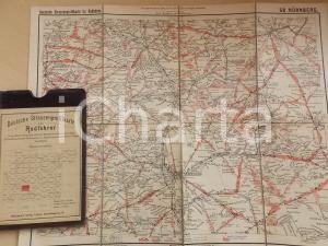 1910 ca Deutsche Strassenprofilkarte fur Radfahrer - NURNBERG n° 58 40x32 cm