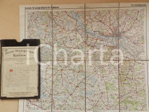 1910 ca Deutsche Strassenprofilkarte fur Radfahrer - HAMBURG n° 13 38x32 cm