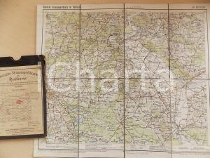 1910 ca Deutsche Strassenprofilkarte fur Radfahrer - BERLIN n° 26 40x32 cm
