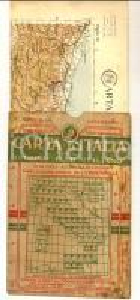 1910 ca TOURING CLUB ITALIANO Carta d'Italia - CATANZARO Foglio n° 48 40x50 cm