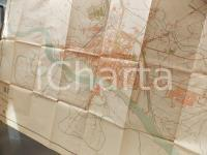 1940 ca PAVIA Mappa a colori del territorio comunale - 200x130 cm