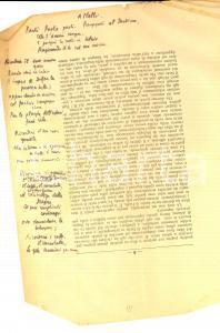 1950 ca ANONIMO Poesia inedita - A Nalli. Parti, Paolo, parti. *CURIOSA