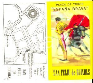 1964 SANT FELIU DE GUIXOLS Corrida de toros José Ignacio SANCHEZ *Biglietto