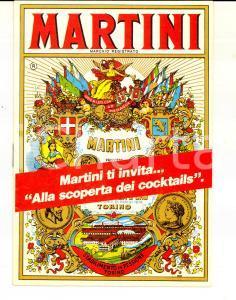 1980 ca TORINO MARTINI & ROSSI Libretto VINTAGE ricette cocktail *Pubblicitario