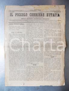 1860 IL PICCOLO CORRIERE D'ITALIA Garibaldi in Sicilia *Giornale anno VII n° 31