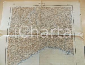 1925 Istituto Geografico Militare CARTA D'ITALIA GENOVA - Foglio 82 *Mappa