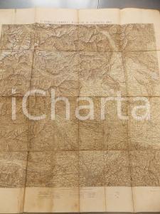 1904 Ist. Geografico Militare I CORPO D'ARMATA Manovre di campagna *Mappa 72x80