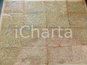 1950 ca TCI CARTA D'ITALIA - LOMBARDIA E ARCO ALPINO *Mappa 110x85 cm