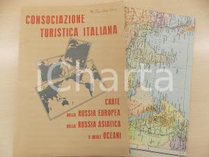 1940 CONSOCIAZIONE TURISTICA ITALIANA Carte Russia Europea - Asiatica - Oceani
